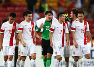 中国队答谢观众