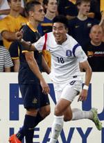 澳大利亚0-1韩国
