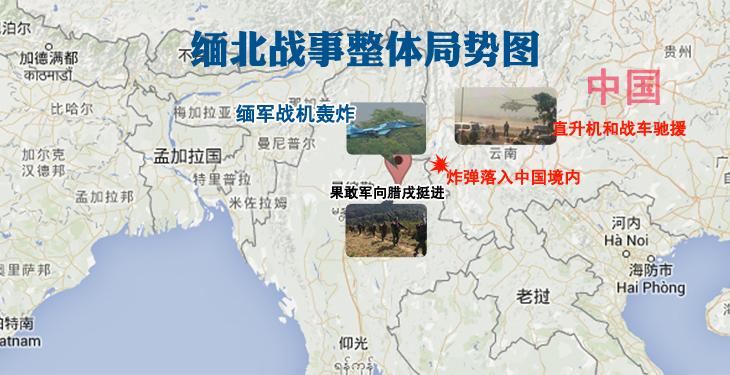 缅北战事整体局势图