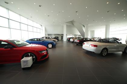 高性能车家族RS7、RS5等车款均可在此进行展示