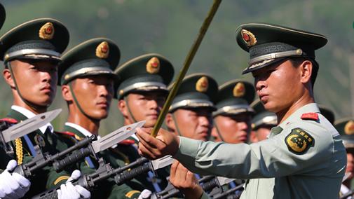 阅兵方阵:武警部队抗战英模方队-搜狐军事频道