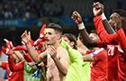 瑞士众将庆祝晋级
