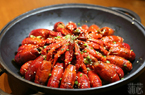 冬季美味 大锅油焖虾