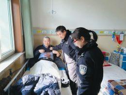 禁毒大队副大队长秦龙头部受伤,同事来医院看望他