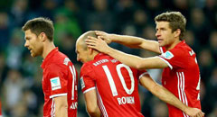 德甲-拜仁1-0 穆勒破荒偷袭罗本