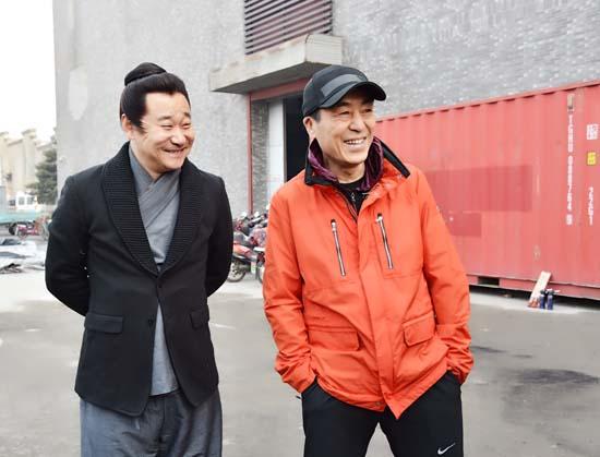 王景春与导演张艺谋