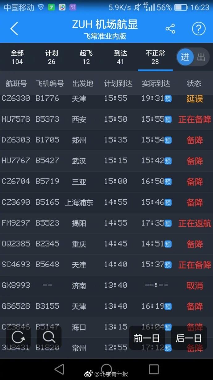珠海机场遭遇不明飞行物侵入 进出港航班受影响