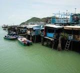 香港一个依水而活的渔村