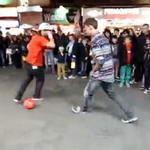 伦敦闹市超强街头足球