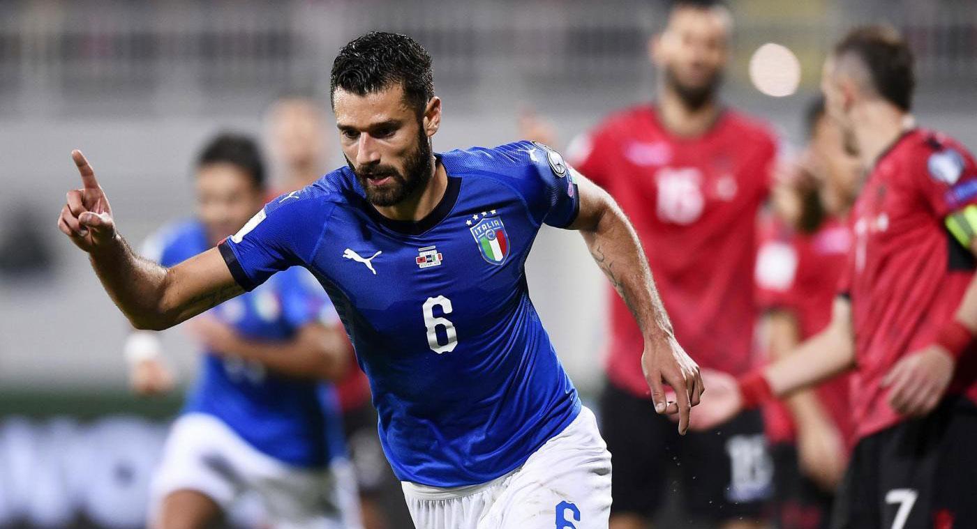 世预赛-意大利1-0 坎德雷瓦破门