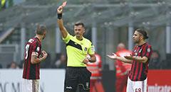 意甲-米兰0-0 博努奇染红下场