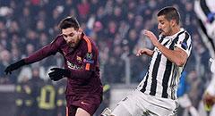 欧冠-尤文0-0巴萨 赫迪拉玩命堵截梅西