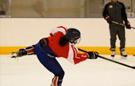韩朝女子冰球联队合训