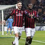 AC米兰总比分4-0晋级欧联杯16强