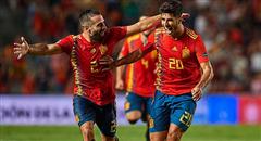 欧国联-西班牙6-0 阿森西奥狂奔笑开花